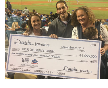 Daniel's Cares at Dodger's Game