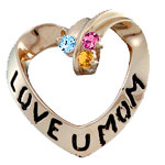 Love U Mom Pendant Mothers Pendant