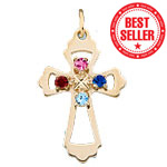 Family Cross Pendant Mothers Pendant