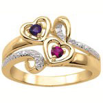 Eternal Hearts Mothers Ring
