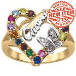 Diamond's Heart Mothers Ring