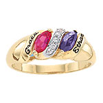 Songs of Life Two Stone Mothers Ring